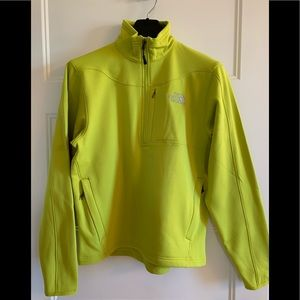 EUC Mens The North Face Jacket pull over zip green